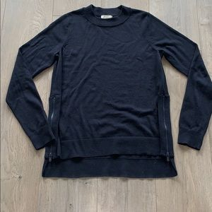 H&M Conscious Navy Small Wool Blend w Stretch